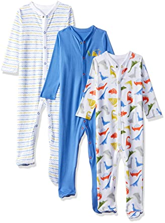 301a537d10e1 Mothercare Baby Boys 3 Pack Sleepsuits Dinosaur  Amazon.co.uk  Clothing