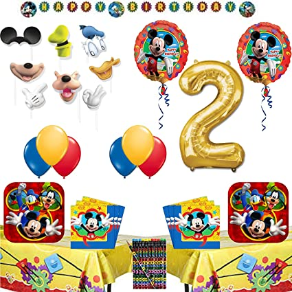 Image Unavailable Not Available For Color Mickey Mouse 2nd Birthday Party Supplies
