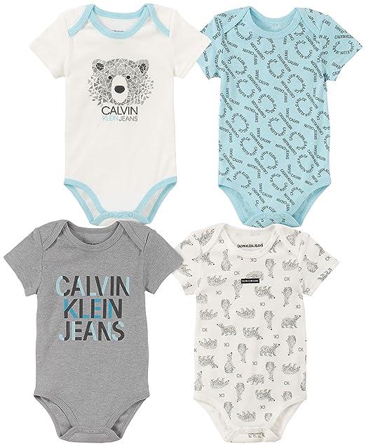 Amazon.com: Calvin Klein - Conjunto de 4 piezas para bebé ...