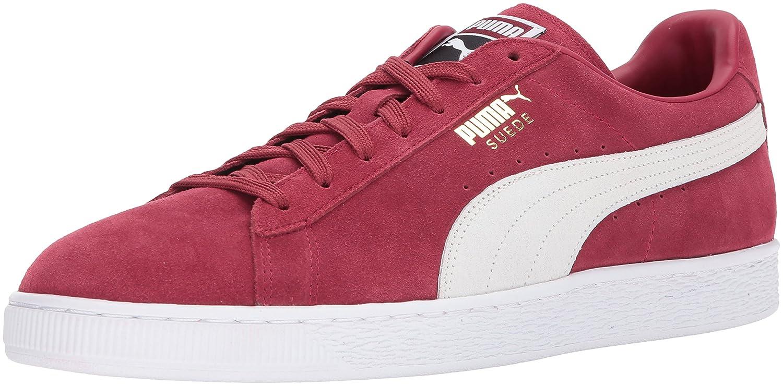 Puma Unisex-Erwachsene Suede Classic + 1 Sneaker, Black-Black, Schuhgrouml;szlig;e  41.5 EU|Rosso (Tibetan Red-puma White)