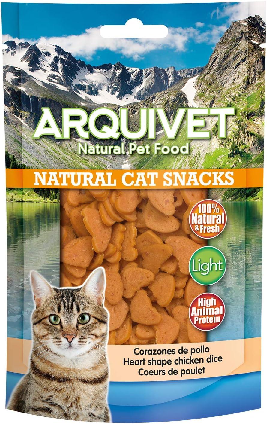Arquivet Corazones de pollo - Snacks naturales gatos - Natural Cat Snacks 50 g