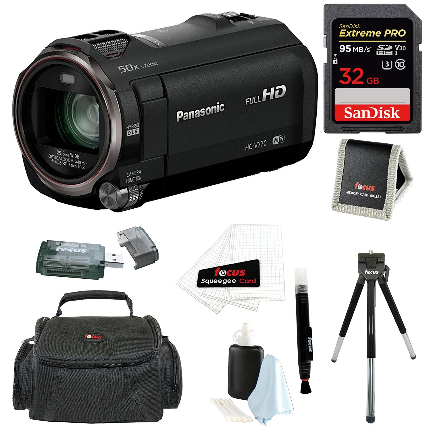 Panasonic HC-V770 HD Camcorder with Wireless Smartphone Twin Video Capture wi... by Panasonic