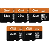 TEAMGROUP Micro SDHC UHS-I 32GB 5-Pack Memory Card with Adapter TUSDH32GUHS59