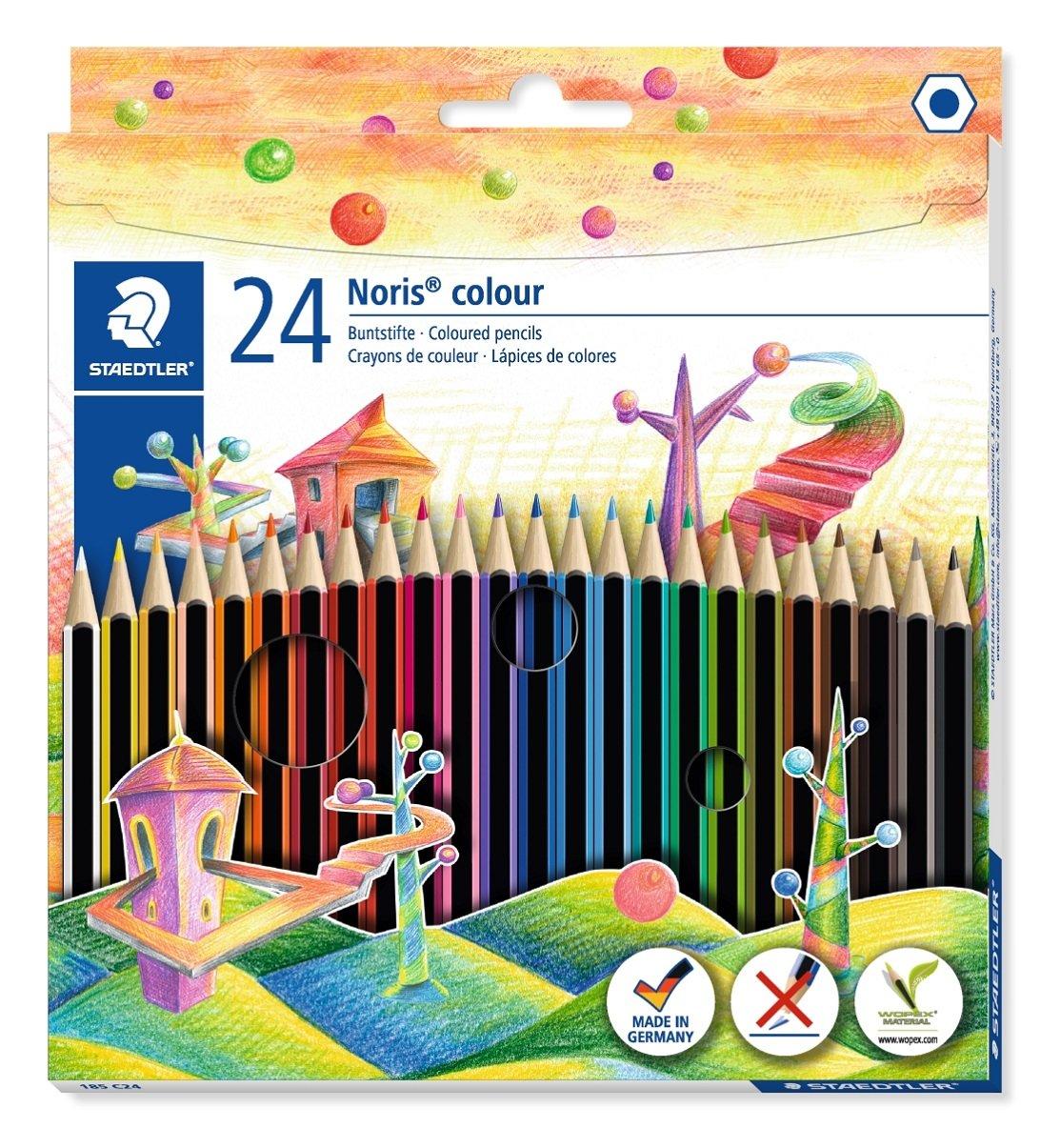 Staedtler 185 C24 - Lápices de colores (24 unidades), colores surtidos 185 C24 ST