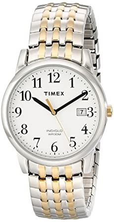 c75b9c1af Image Unavailable. Image not available for. Color: Timex Men's T2P295 Easy  Reader Dress Two-Tone Stainless Steel Expansion Band Watch