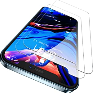 CASEKOO Shatterproof Compatible with iPhone 12 Pro Max Screen Protector with Phone Stand, [Military Grade Protection] Anti-Scratch Clear Tempered Glass Screen Protector - (2 Pack)