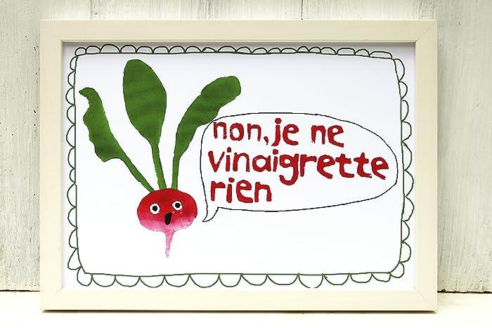 Radieschen Poster ne regrette rien lustig Poster Din A4 bunt Deko ...