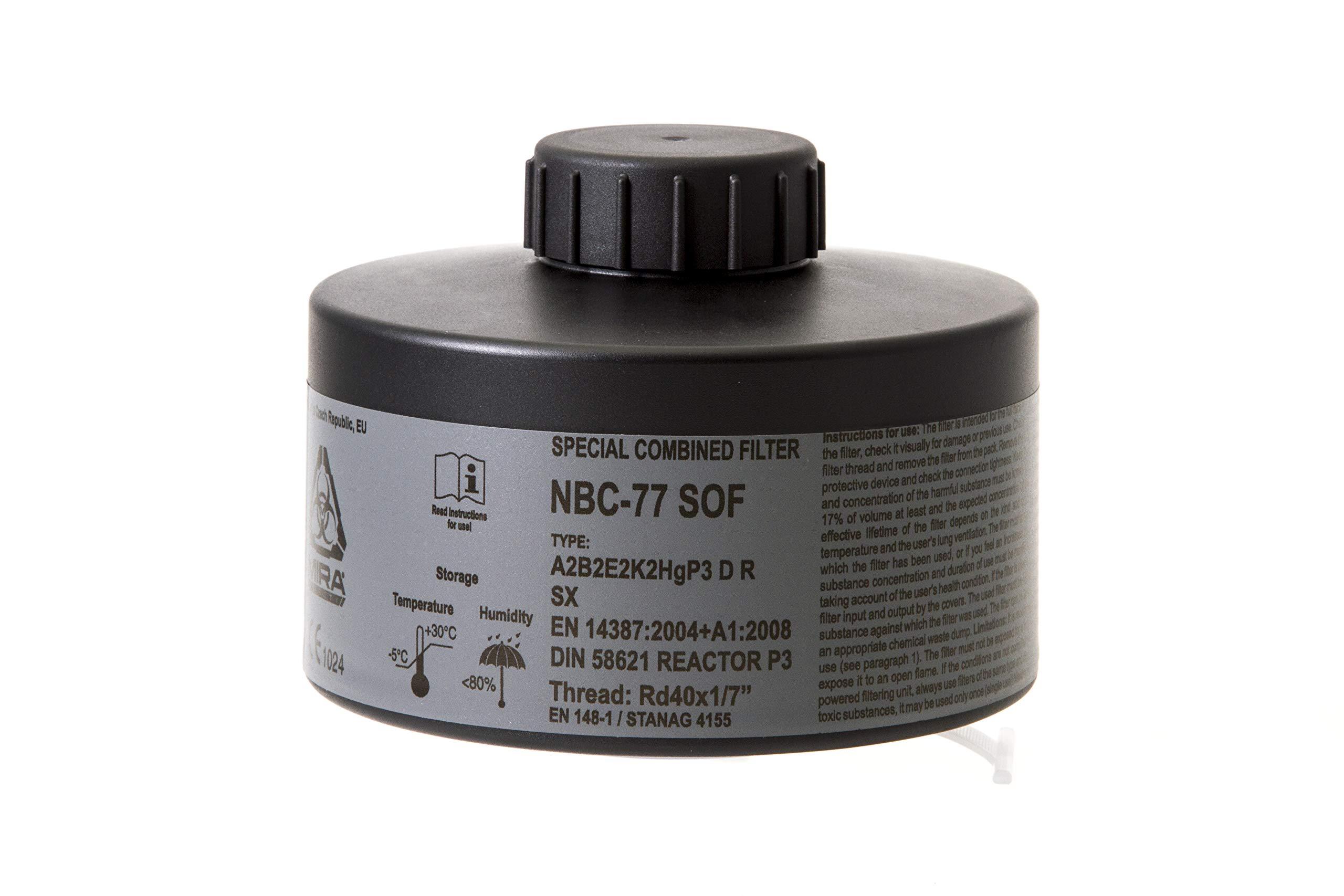 MIRA Multi Gas Vapor Cartridge Respiratory Protection 20 Years Shelf Life CBRN NBC Grade (Mira Filter) by MIRA SAFETY M (Image #5)