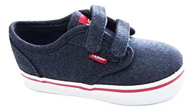 b2b7c137f5c Vans Toddler s Atwood V (Menswear) Parisian Night Chili Pepper First  Walkers Shoes (