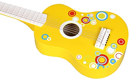 Lelin Wooden Childrens Kids Bubble Guitar Percussion Musical Instrument
