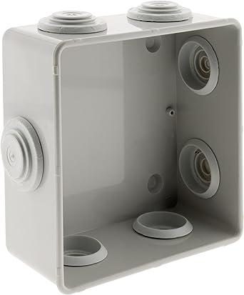 Caja de derivación estanca (IP55 cuadrada 100 x 100 x 36 mm: Amazon.es: Iluminación