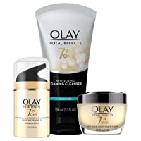 Face Wash by Olay Total Effects Day to Night Anti-Aging Skincare Kit with Cleanser...