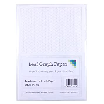 A Isometric Graph Paper Pack Cm Mm Triangles  LooseLeaf