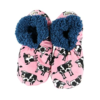Moody in The Mornings Womens Plush Fuzzy Feet Slippers by LazyOne | Ladies Soft Fuzzy House Slippers (S/M) | Slippers
