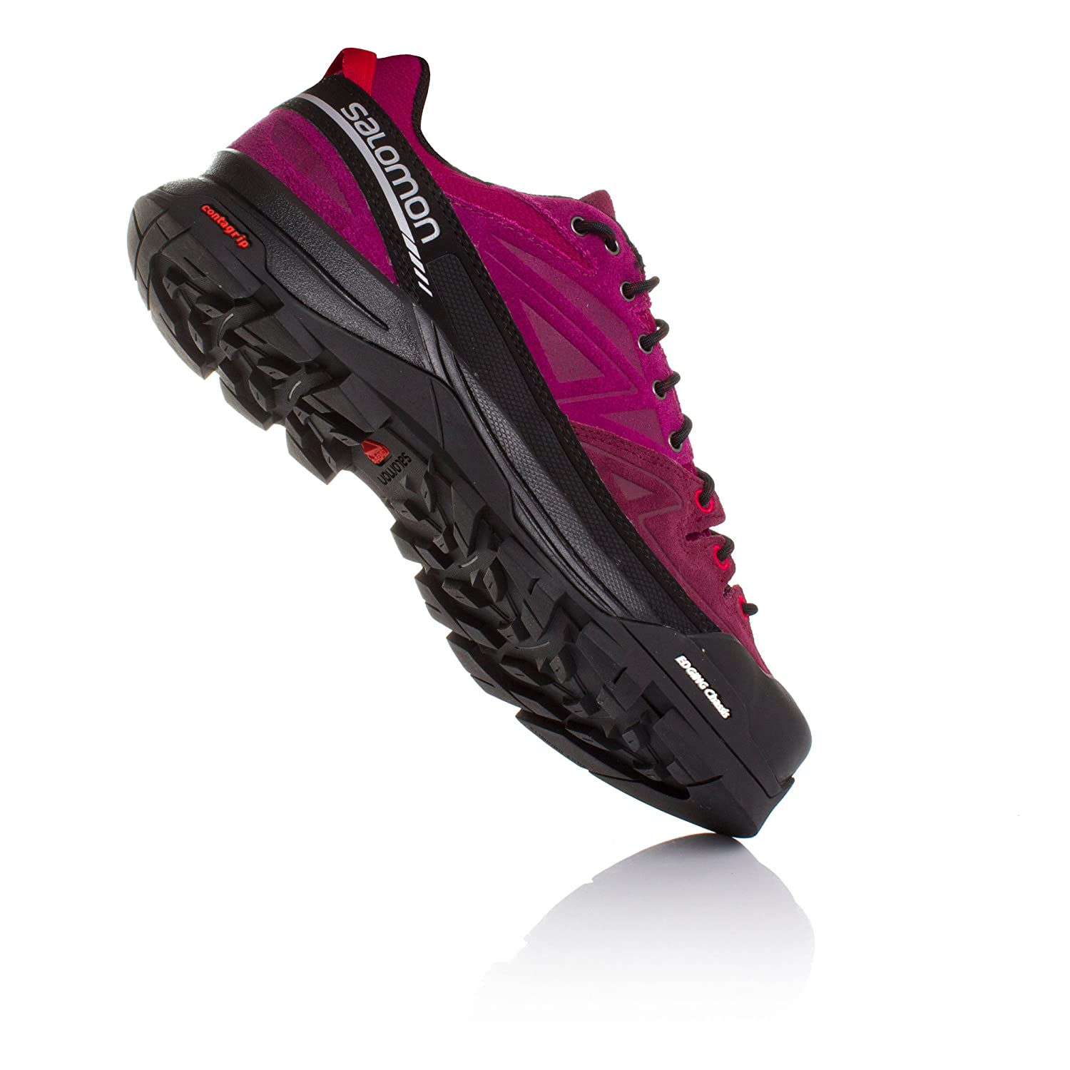 Salomon Women's X Alp LTR W Leather Hiking Sneaker B00ZLN5KGA 7 B(M) US|Mystic Purple, Bordeaux, Lotus Pink