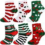 Fascigirl Calcetines de Navidad 6 Pares Calcetines Navidad Mujer Calcetines Termicos Mujer Invierno Calcetines Señora…