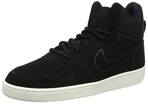 Nike Court Borough Mid Premium, Zapatillas Altas para Hombre, Negro (Black/Sail
