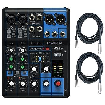 Yamaha MG06 X 6 mezclador de estéreo de entrada (con efectos de SPX) W