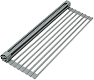 S&T INC. ST 532301 Dish 13 Inch x 20.5 Inch, x .25 Inch, Over the Sink Silicone Coated Drying Rack Grey