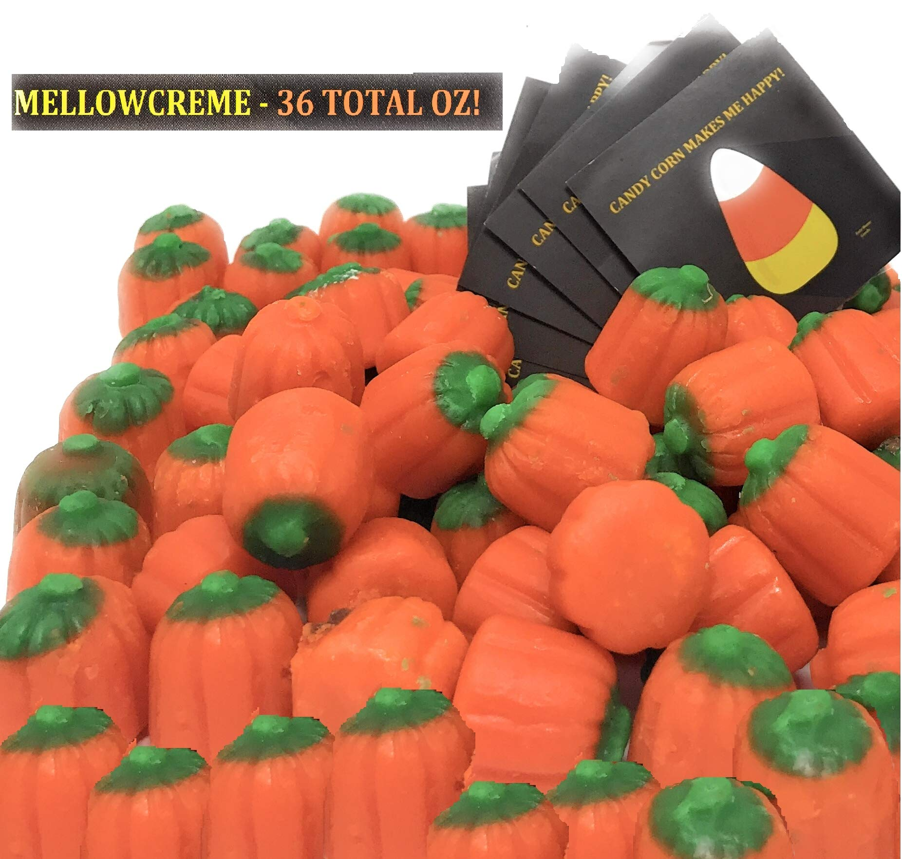 Brachs Mellowcreme Pumpkins, 36oz Total w/ Bonus Stickers by Brach's