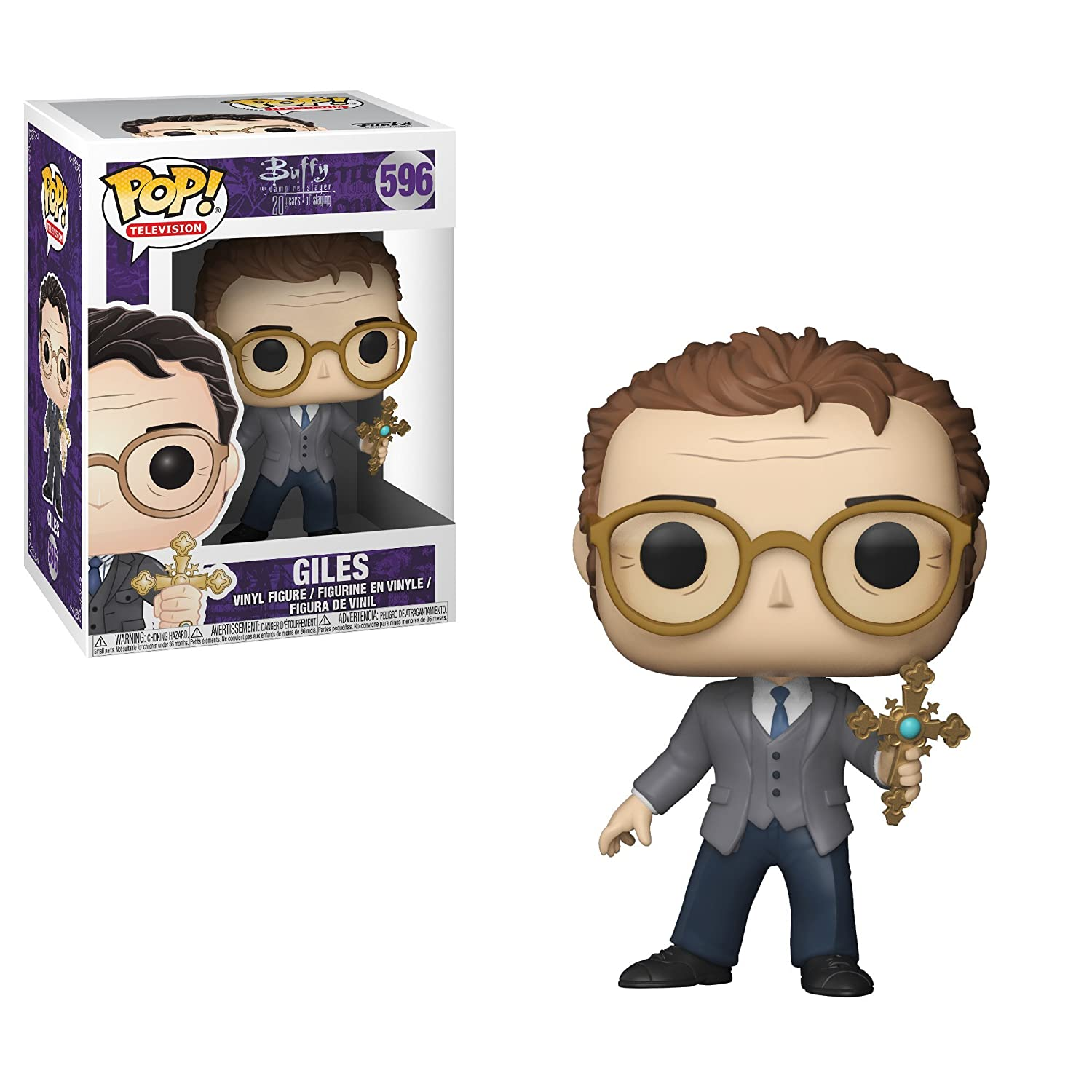 Buffy 20th-Giles Collectible Toy 25199 Accessory Toys /& Games Funko Pop TV