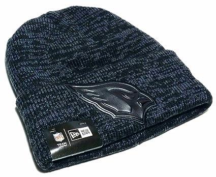 Arizona Cardinals New Era NFL Cuffed Tonal truco de piel gris negro Beanie  gorro sombrero gorra 9e0ec04a07a