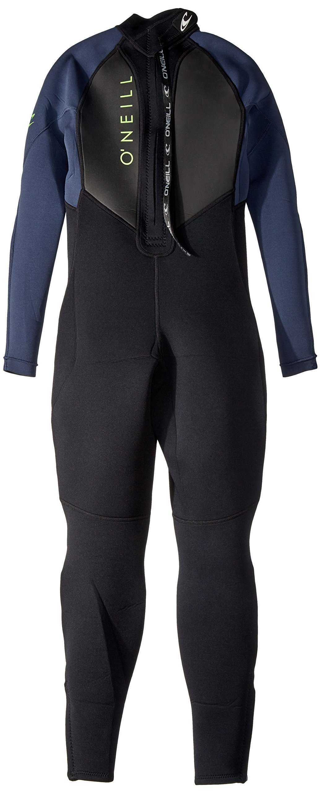 O'Neill Youth Reactor-2 3/2mm Back Zip Full Wetsuit, Black/Slate, 4 by O'Neill Wetsuits (Image #2)