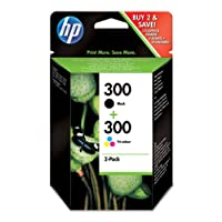 HP Multipack cartucce N. 300 - 1x nero, 1x mista (giallo, cyan, magenta)
