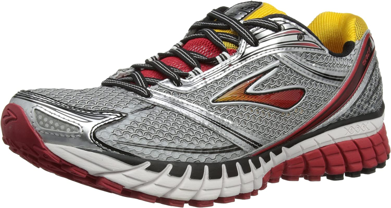 BROOKS Ghost 6 2E, Zapatillas de Running para Hombre, Negro Blanco Lava Silver Citrus, 45,5 EU: Amazon.es: Zapatos y complementos