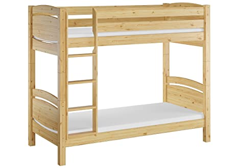 Erst-Holz Bel Cama a Castillo para jóvenes con colchón 90 x 200 en Pino