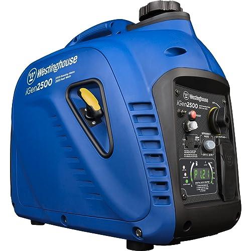 Westinghouse iGen2500 Portable Inverter Generator - 2200 Rated Watts & 2500 Peak Watts