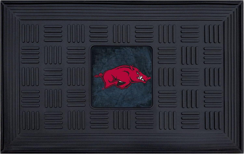 FANMATS NCAA University of Arkansas Razorbacks Vinyl Door Mat