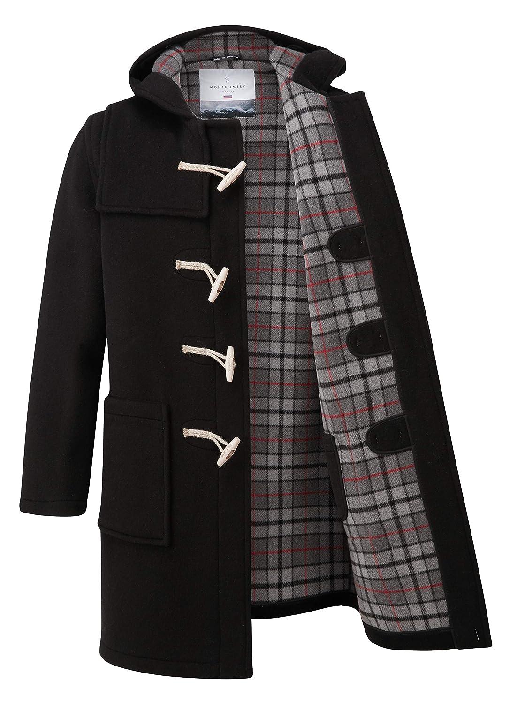 Original Montgomery Mens Duffle Coat Wooden Toggles Black