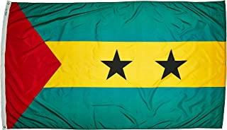 product image for Annin Flagmakers Model 197139 Sao Tome & Principe Flag Nylon SolarGuard NYL-Glo, 5x8 ft, 100% Made in USA to Official United Nations Design Specifications