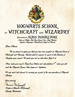 Amazon harry potter school acceptance letter gift pack personalized wizardry acceptance letter spiritdancerdesigns Gallery