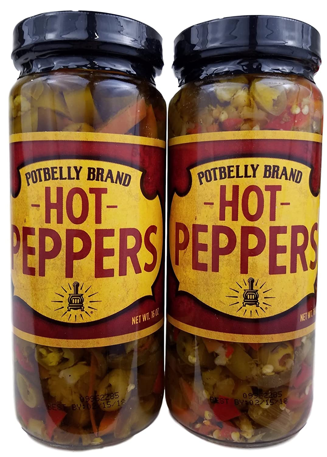 Amazon.com : Potbelly Sandwich Shop Brand Hot Peppers 16 Oz (2 Jars ...