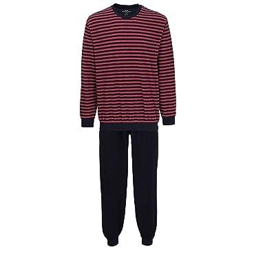 a071aedfeb Götzburg Herren Nachtwäsche Zweiteiliger Schlafanzug, Pyjama lang, aus  Baumwolle 48