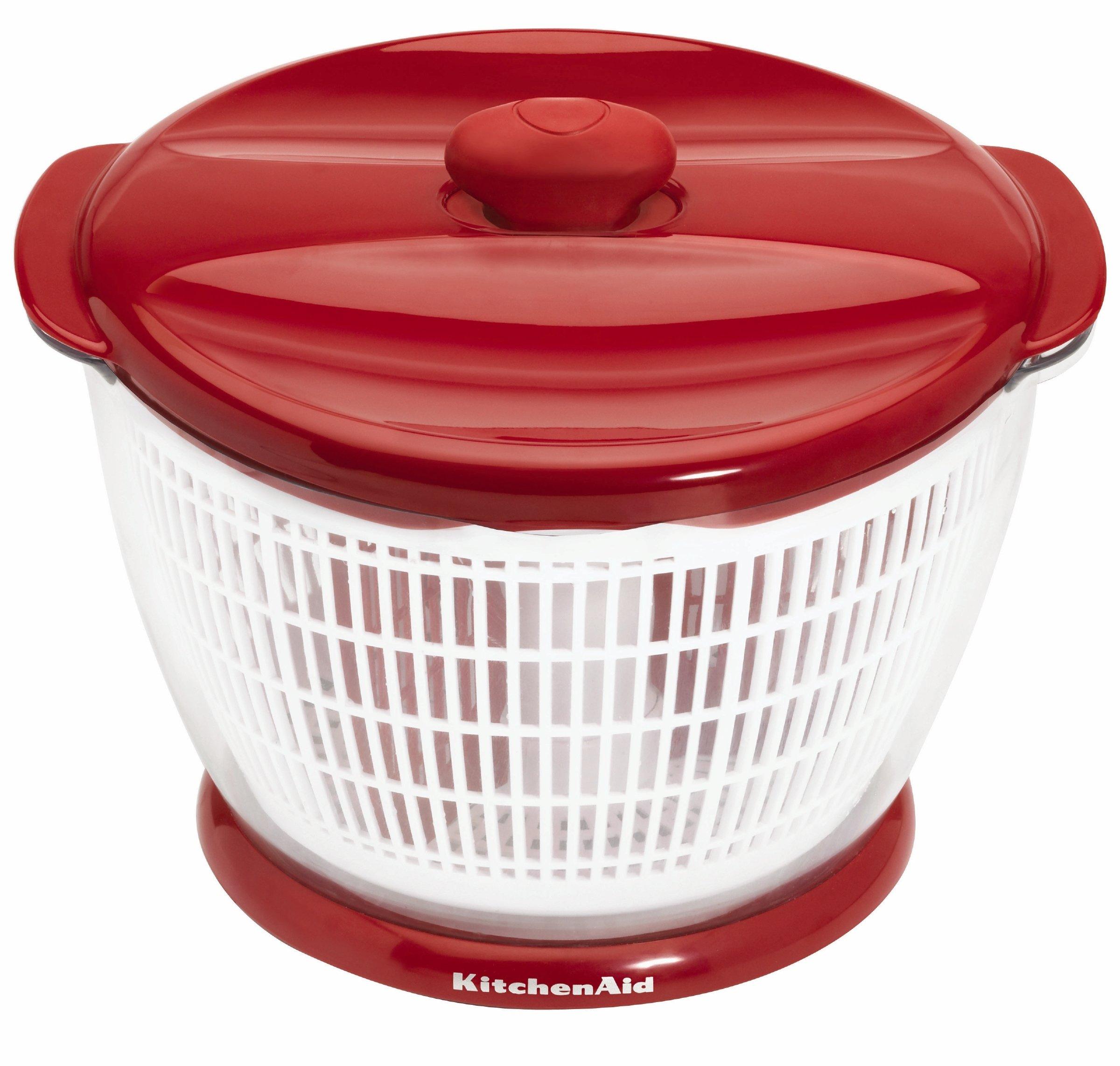 KitchenAid Plastic Salad Spinner (Red) by KitchenAid