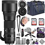 Sigma 150-600mm 5-6.3 Contemporary DG OS HSM Lens for Canon DSLR Cameras + Sigma USB Dock with Altura Photo Complete…