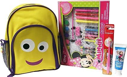 Los niños de viaje regalo Bundle – 4 ITEMS – rucksak Mini arte unidades cepillo de dientes y pasta de dientes – Ocio Y higiene: Amazon.es: Belleza