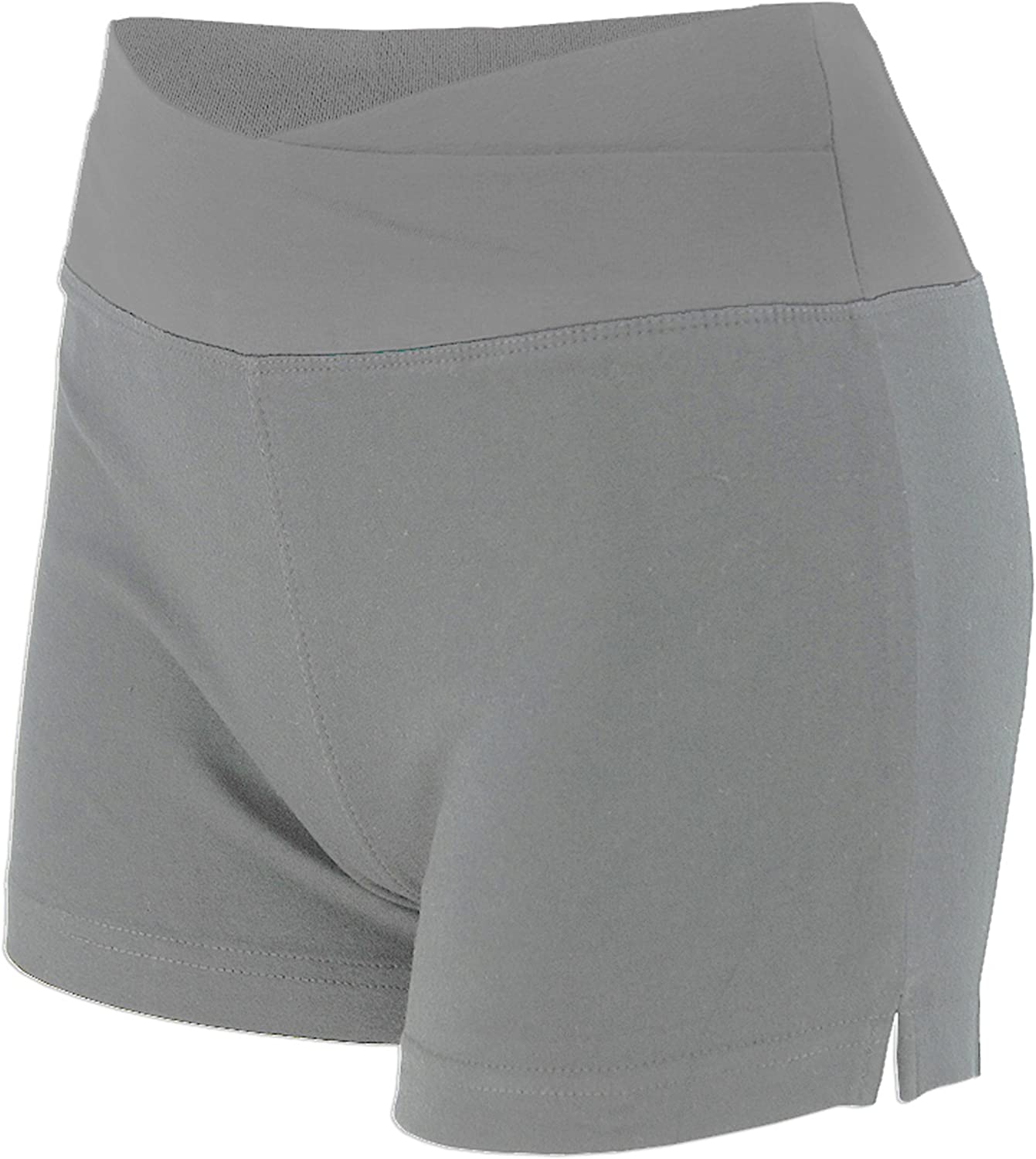 Womens Lady Cotton Spandex Fold Over Waist Yoga Short Pants