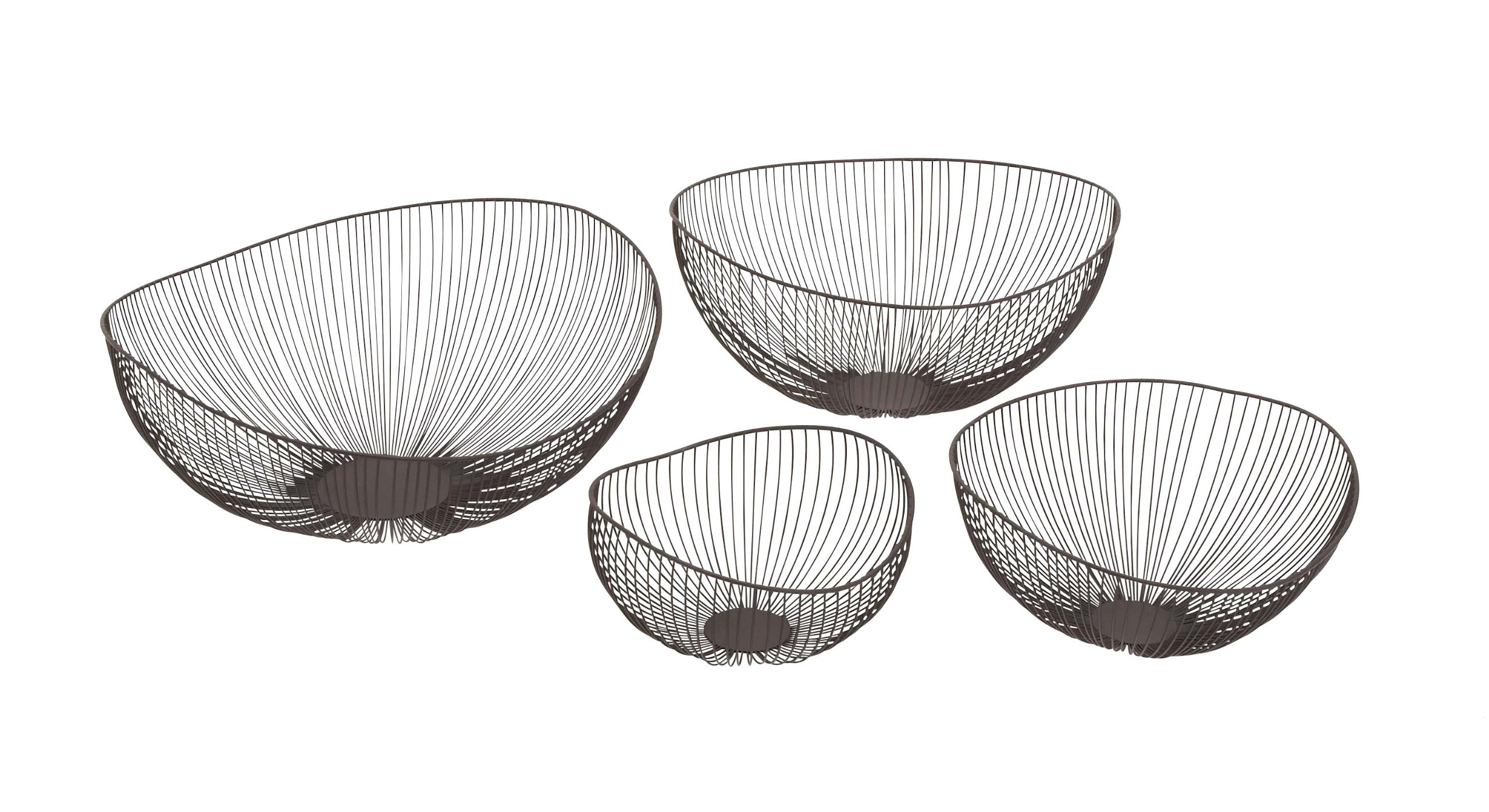 Plutus Brands Customary Styled Elegant Metal Wire Bowl