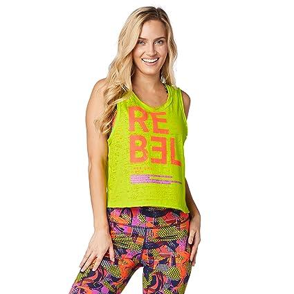 84ea62803c Amazon.com: Zumba Women's Loose Tank Top, Zumba Green, Medium: Sports &  Outdoors