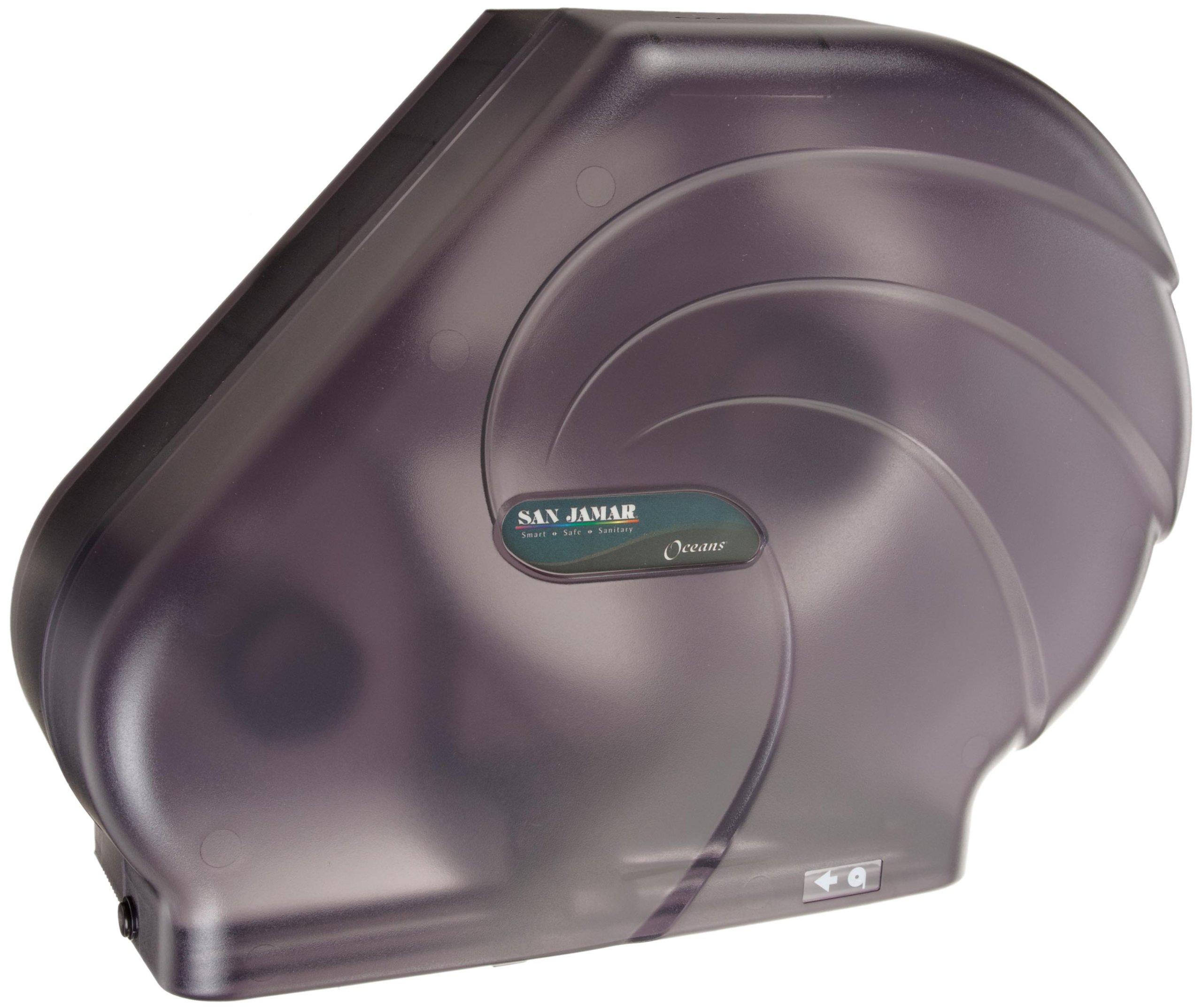 San Jamar R3090TBK Oceans 3.125 Mandrel Reserva Jumbo Roll Toilet Tissue Dispenser by San Jamar