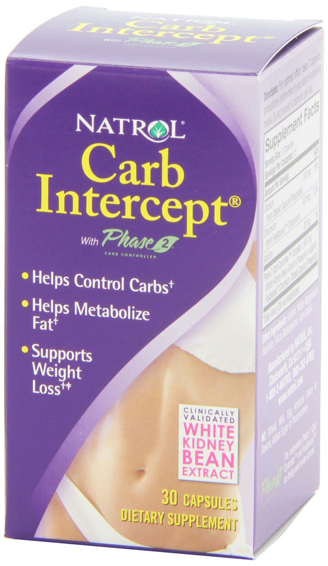 Natrol Carb Intercept with Phase 2 Starch Neutralizer, 30 Capsules (Pack of 3) by Natrol (Image #5)