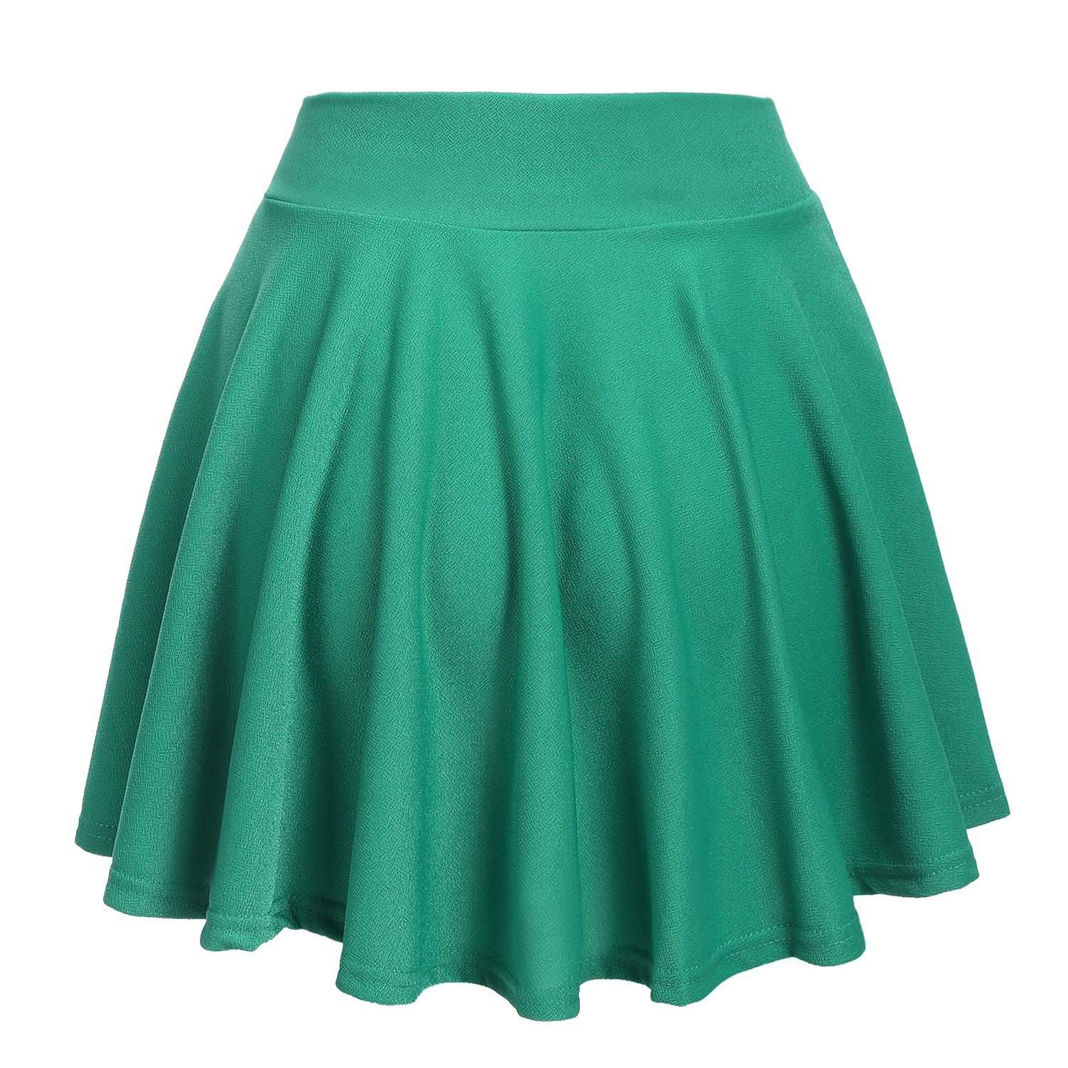 6ade9d2327cc52 ACEVOG Women's Casual Basic Versatile Stretchy Waist Flared Mini Skater  Skirt at Amazon Women's Clothing store: