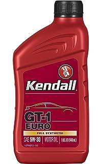 Kendall 1078251 Euro Motor (GT-1 Full Synthetic Oil 5W30-1 Quart)