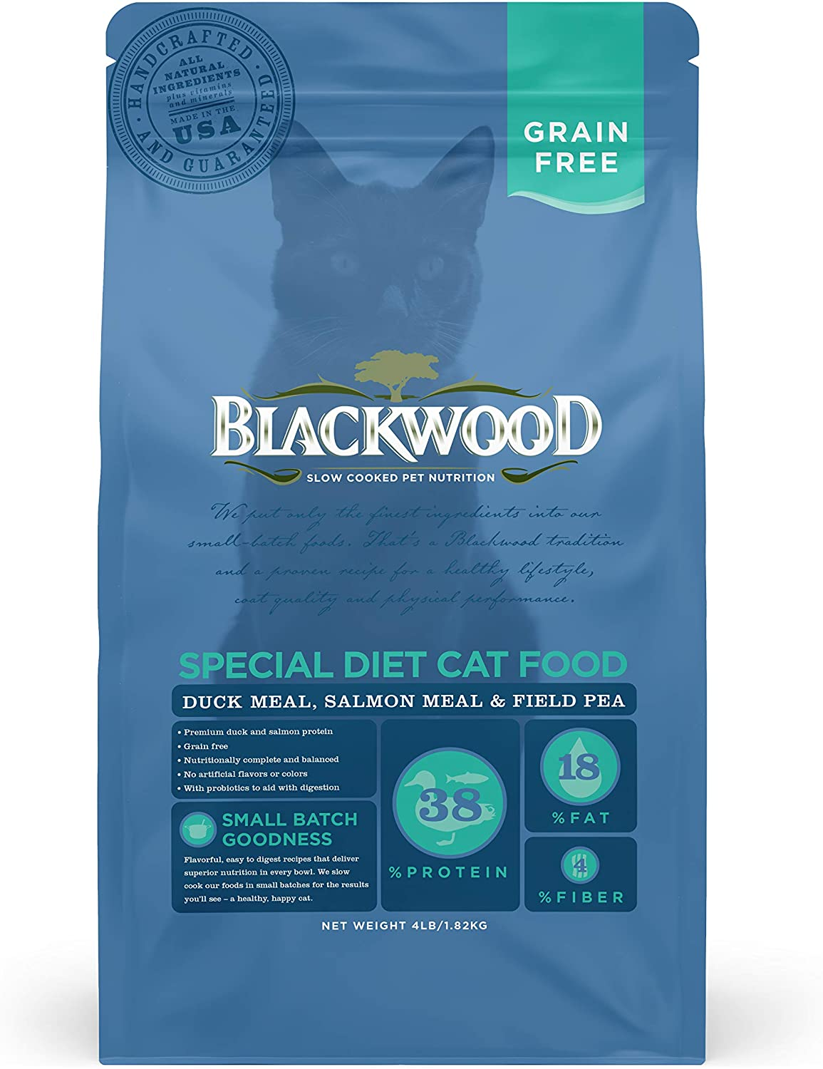 Blackwood Pet Grain Free Cat Food Made in USA [Special Diet Dry Cat Food To Solve Food Sensitivities Naturally], Ideal For All Life Stages