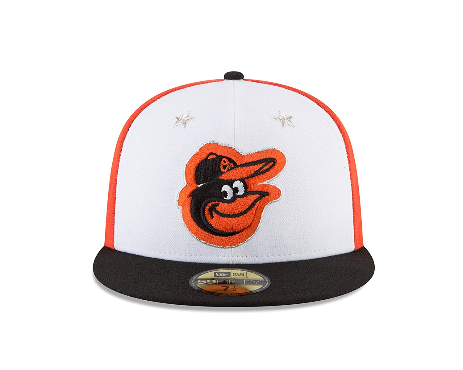 0bec4b1589394f Amazon.com : New Era Baltimore Orioles 2018 MLB All-Star Game On-Field  59FIFTY Fitted Hat - White/Black : Sports & Outdoors