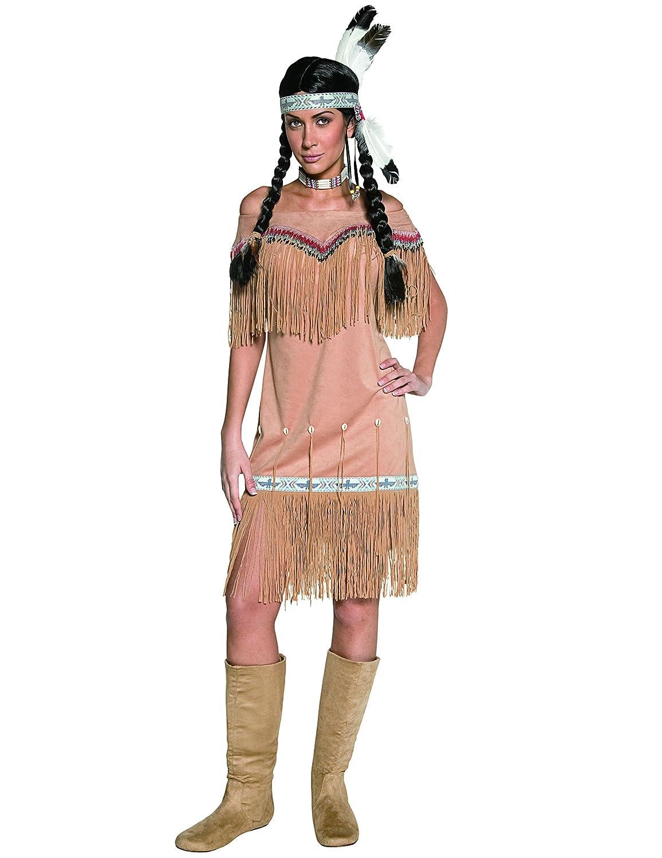 KULTFAKTOR GmbH Indianerin Kostüm braun-beige M